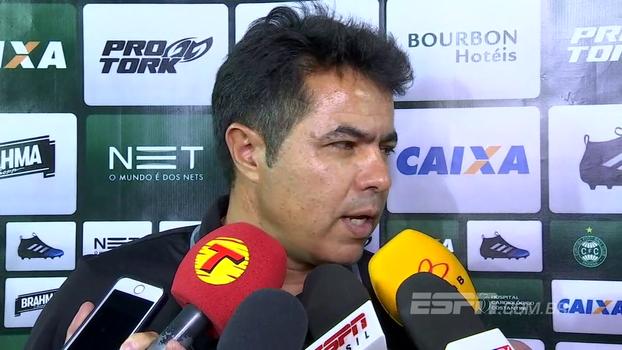 Robson Gomes, interino do Coritiba, vê derrota como um 'pecado não merecido' e fala de Marcelo Oliveira