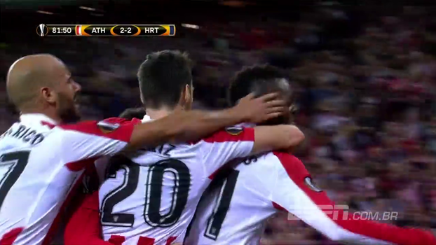 Adúriz marca duas vezes, Bilbao vira sobre o Hertha em jogaço e fica próximo de classificação