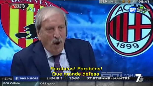 Folclórico comentarista torcedor do Milan se desespera com gol do Benevento: 'Voltem para casa! Vocês me envergonham'