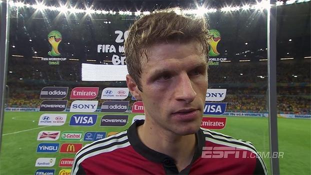 Thomas Muller exalta velocidade alemã: 'Conseguimos passar por cima da defesa brasileira'. Veja!