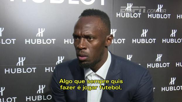 Bolt reforça sonho de jogar futebol, mas diz que está tentando aproveitar seu tempo; veja