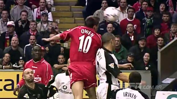 Beckham marcou, mas bomba de Riise e gols de Owen deram vitória ao Liverpool sobre United em 2001