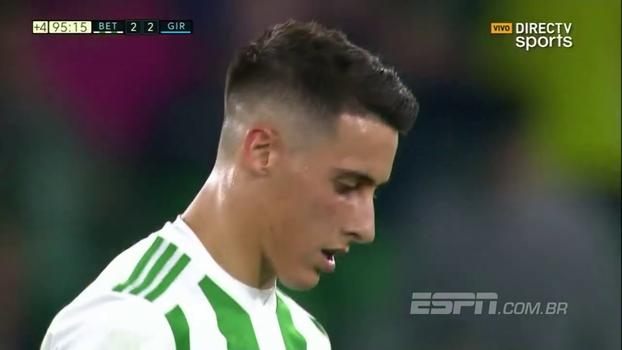 Ex-Barça marca, Betis só empata com o Girona e chega ao quarto jogo sem vencer