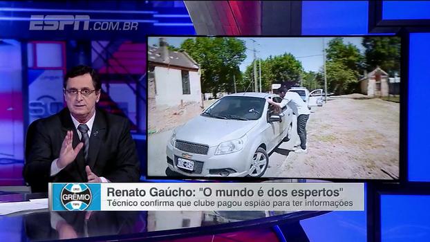 Antero comenta resposta de Renato Gaúcho sobre drone espião: 'Não desmentiu; a reportagem é verdadeira'