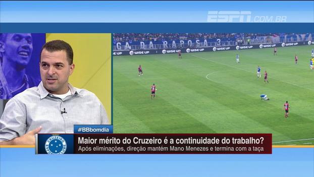 Zé Elias elogia Cruzeiro de Mano Menezes: 'Sólido, consistente'
