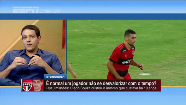 Rafa Oliveira analisa Diego Souza no São Paulo: 'Valor bem alto'