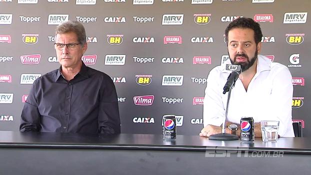 Presidente do Atlético-MG explica contratação de Oswaldo e revela: 'Contrato até dezembro de 2018'