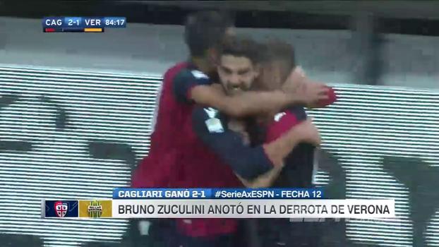 Cagliari perde pênalti, sai atrás, mas vira o jogo e afunda o Hellas Verona