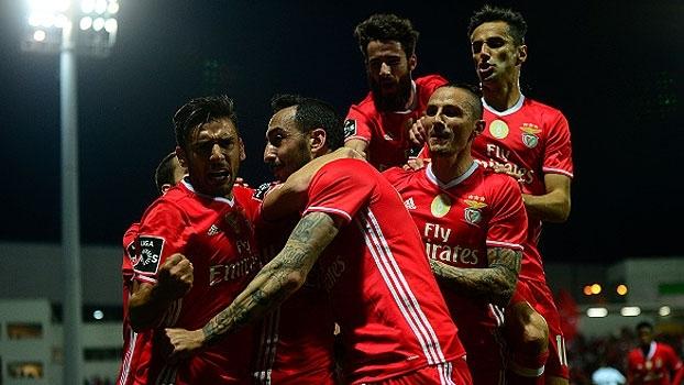 Português: Gol de Moreirense 0 x 1 Benfica