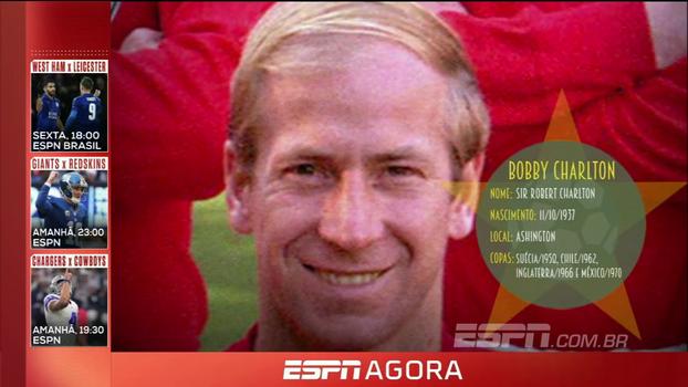 Ele foi o herói da seleção inglesa no título de 66, na Inglaterra: relembre a trajetória de Bobby Charlton nas Copas