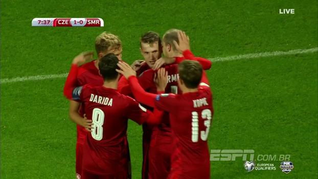 República Tcheca encerra participação nas eliminatórias com goleada sobre San Marino