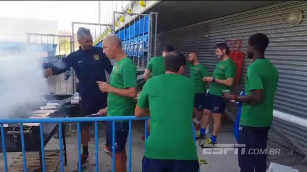 Teve até churrasco! Jogadores do Fuenlabrada fazem festa 'de título' ao saber que enfrentarão o Real Madrid