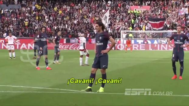 Neymar ou Cavani? Parte da torcida do PSG pediu para uruguaio bater pênalti contra o Bordeaux