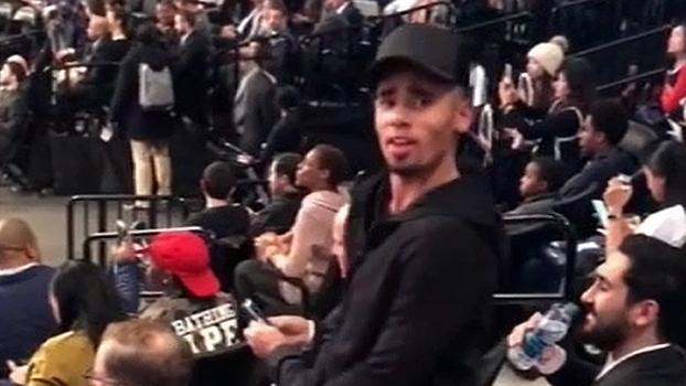 Com direito a dancinha, Gabriel Jesus acompanha Brooklyn Nets x Detroit Pistons