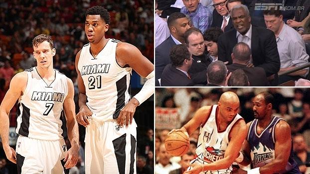 Recuperação do Heat, confusão em Nova York e disputa Barkley x Malone no 'NBA Countdown Brasil'