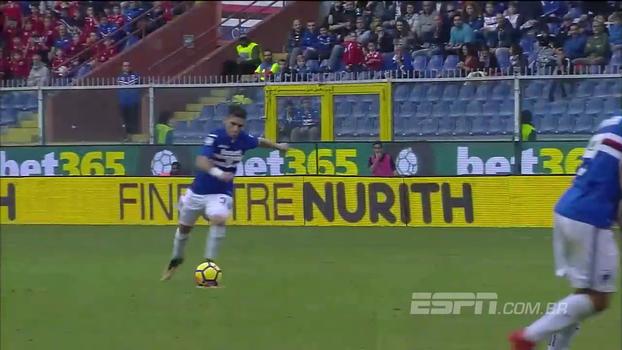 Com gol de falta absurdo, Sampdoria goleia Chievo e segue firme em sexto