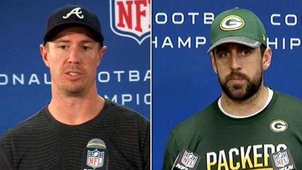 Rodgers exalta confiança fluindo; Ryan elogia rival, mas foca na defesa dos Packers