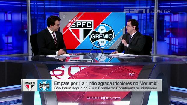 Antero vê 'reação' do São Paulo em empate no Morumbi e Grêmio como 'o time para fazer sombra ao Corinthians'
