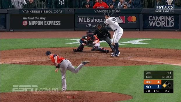 Aaron Judge vai bem, Yankees vencem os Astros e empatam série