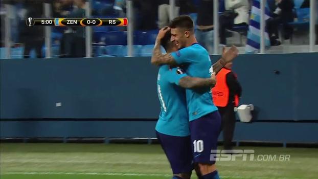 Com falha bizarra de goleiro, Zenit vence Real Sociedad por 3 a 1