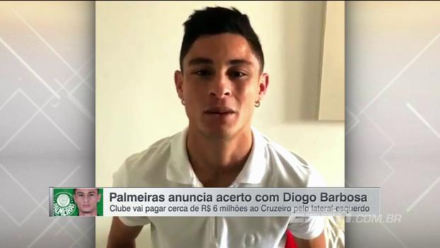 Confira o recado que Diogo Barbosa gravou para a torcida do Palmeiras: 'Vamos estar juntos!'