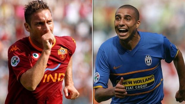 Totti fez dois pela Roma, mas gols de Trezeguet e Iaquinta deram empate à Juventus em 2007