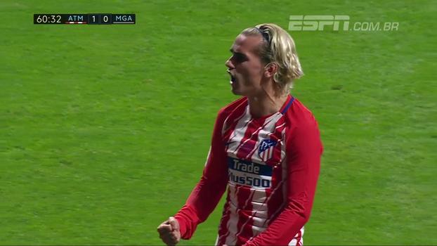 Para a história! Correa deixa marcador no chão e toca para Griezmann fazer o primeiro gol do novo estádio do Atlético