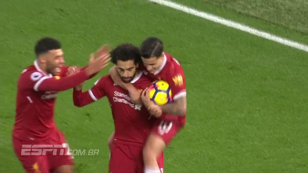 Do chapéu à comemoração: imagens exclusivas mostram como Philippe Coutinho reagiu ao gol de Salah