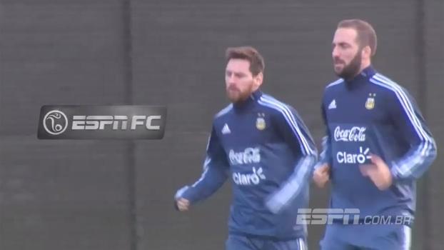 Com Messi, Argentina treina para enfrentar o Brasil - ESPN