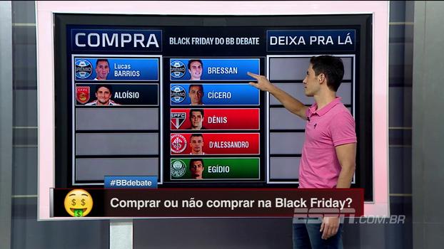 É 'Black Friday' no BB Debate! Robinho, Lucas Lima, Prass, Sheik... Qual jogador você compraria para o seu time?