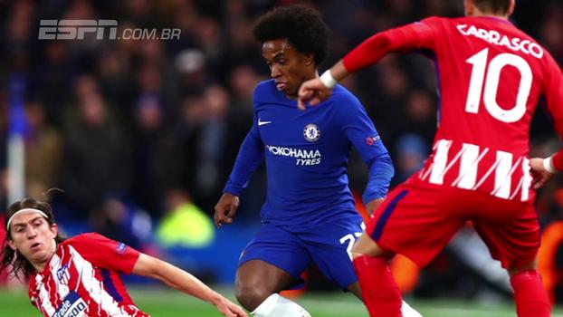 Cahill torce por sorteio favorável ao Chelsea, e Willian aprova desempenho contra o Atlético
