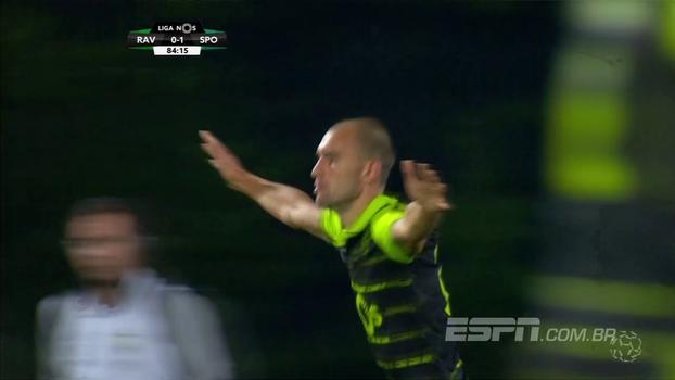 Assista ao gol da vitória do Sporting sobre o Rio Ave por 1 a 0!