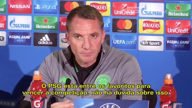 Técnico do Celtic, que enfrenta o PSG, situa Neymar em relação a Messi e CR7 e fala de Mbappé: 'Jovem incrível'