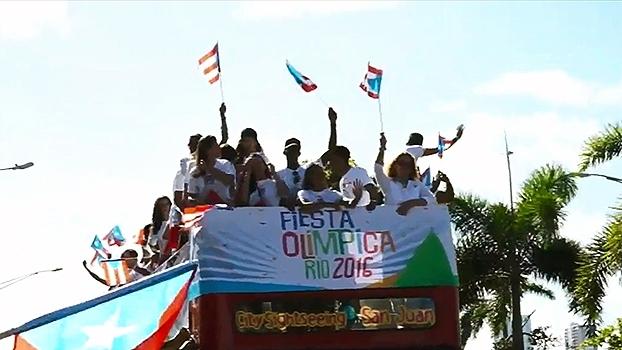 Após ouro na Rio 2016, Monica Puig é recebida com festa em Porto Rico