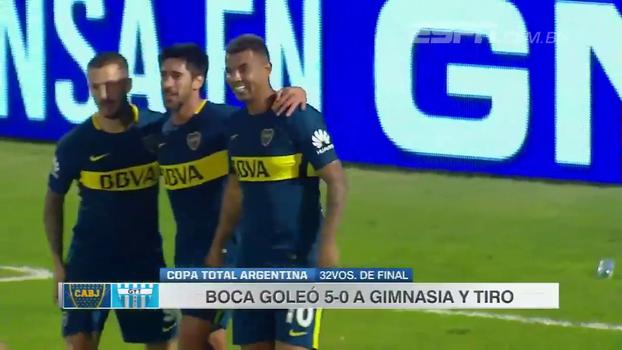 Boca Juniors goleia Gimnasia y Tiro e avança na Copa Argentina