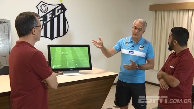 Dorival assiste ao DataESPN e analisa estratégias de jogo do Santos