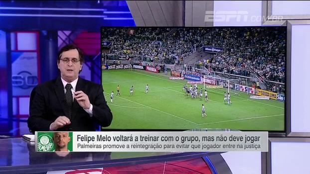 Antero comenta reintegração de Felipe Melo ao Palmeiras: 'Atitude de constrangimento avassalador para clube e treinador'