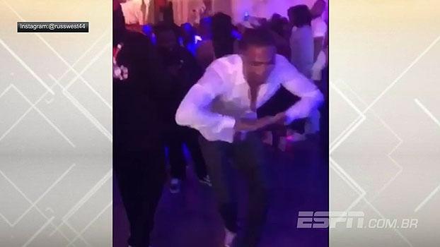 Preocupado? Russel Westbrook se diverte com passinhos de dança em rede social