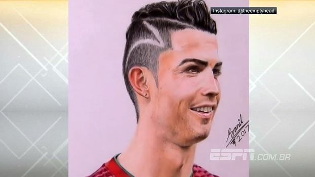 Desenhista faz réplica perfeita de Cristiano Ronaldo; veja