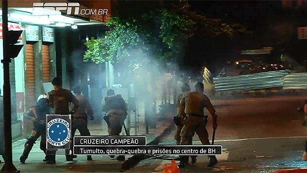 Após 3° título brasileiro do Cruzeiro, festa teve cenas de vandalismo e confusão; veja imagens