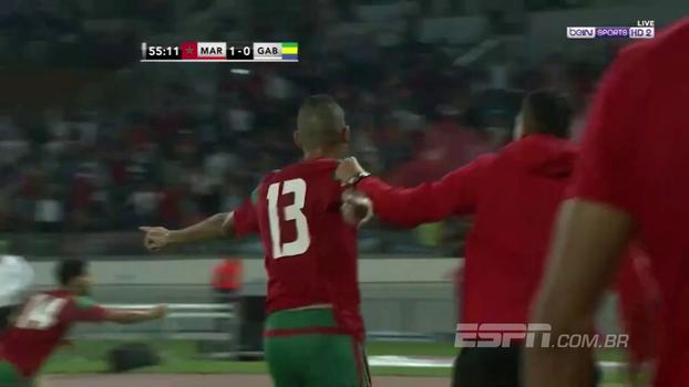 Eliminatórias africanas: Gols de Marrocos 3 x 0 Gabão