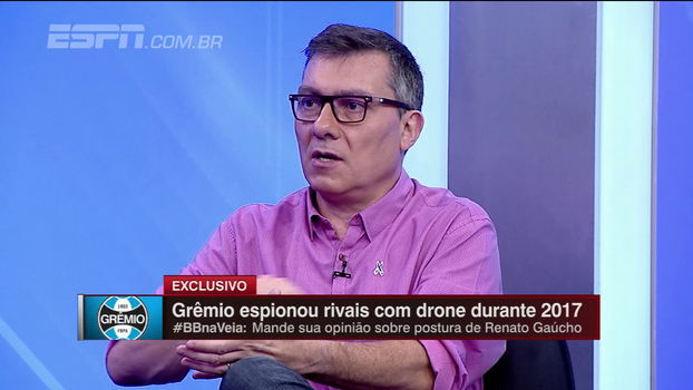 """Calçade, sobre espionagem do Grêmio: 'Quem acha que está tudo bem, não reclame depois se seu senador meter a mão na 'bufunfa'"""""""