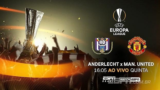 United joga contra o Anderlecht de olho na semi da Europa League; Na ESPN Brasil e WatchESPN, quinta às 16h05