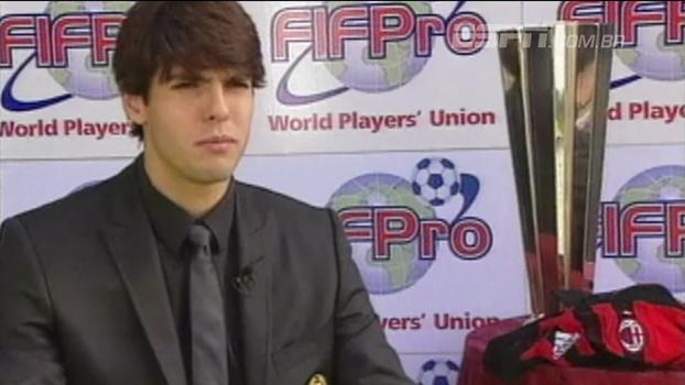 Quem viu? Há 10 anos, Kaká era eleito o melhor jogador do mundo depois de conquistar a Champions League pelo Milan