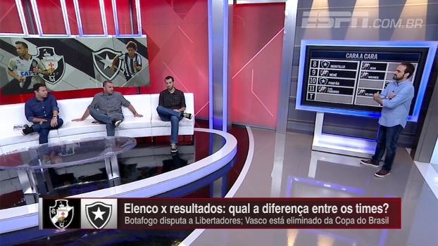 Um na Libertadores, outro eliminado da Copa do Brasil: qual o melhor elenco entre Botafogo e Vasco?