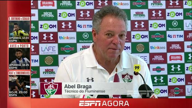 Abel diz que não vai exigir nada em conversa com diretoria do Flu: 'Trabalho aqui como treinador e como torcedor'