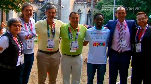 Olimpíada e 'Caravana do Esporte' se encontram no Rio de Janeiro