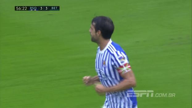 Veja os gols do emocionante empate entre Real Sociedad 4 x 4 Betis