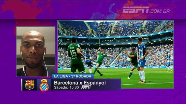 Naldo projeta clássico pelo Espanyol contra o Barcelona: 'Vamos com tudo, sabendo explorar contra-ataques'