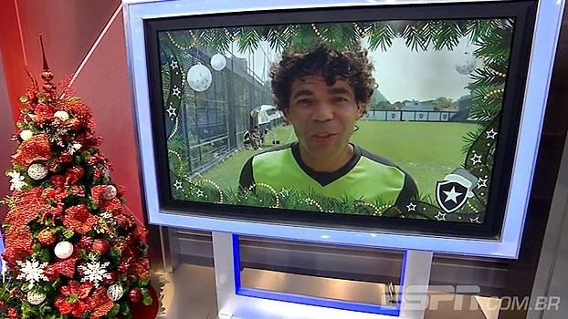 Elenco do Botafogo deseja feliz Natal para os torcedores